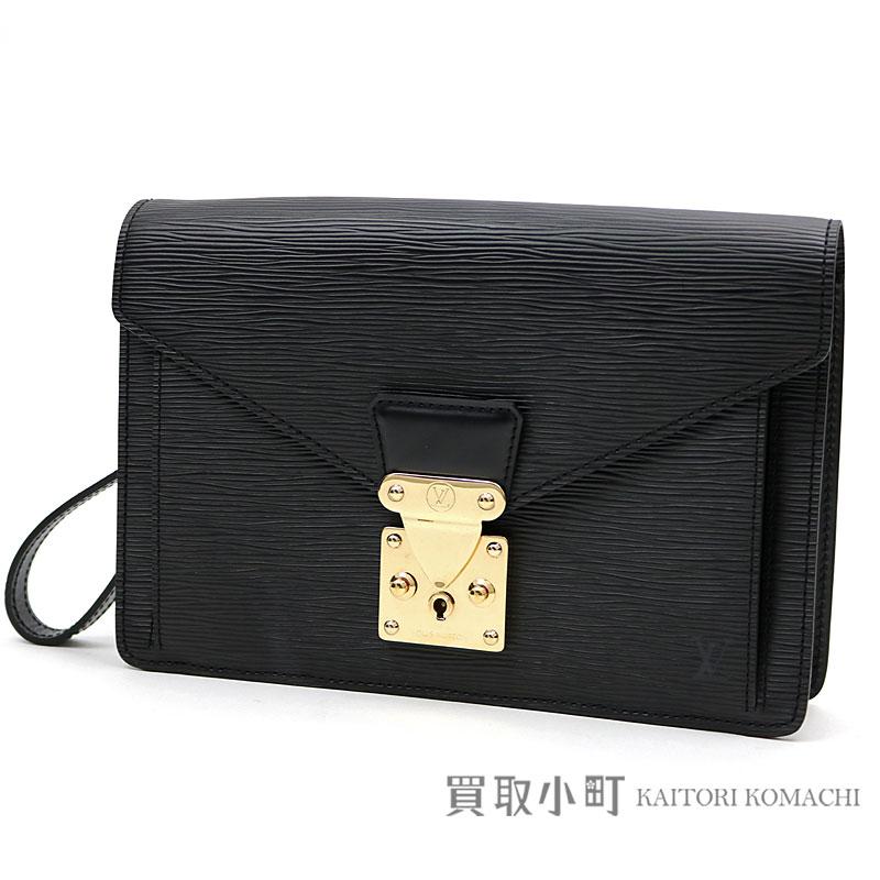 74587ec96fbd Louis Vuitton M52612 ポシェットセリエドラゴンヌエピノワールゴールド metal fittings handbag second  bag clutch bag men black leather LV POCHETTE SERIE ...