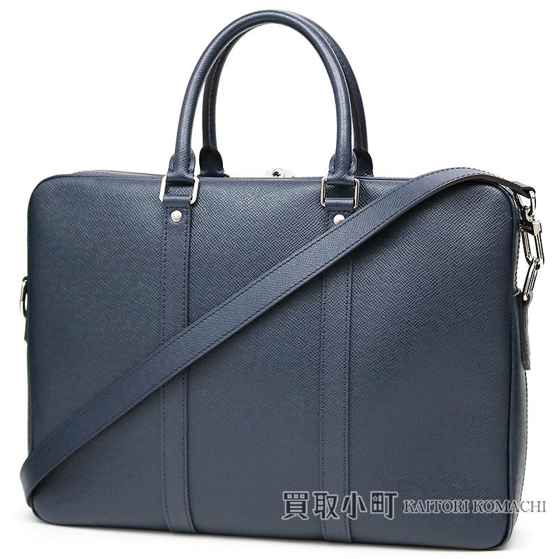Louis Vuitton M33413 Pdv Pm Taiga Blue Malines Small Briefcase Business Bag 2way ショルダーメンズポルトドキュマン ヴォワヤージュ Lv