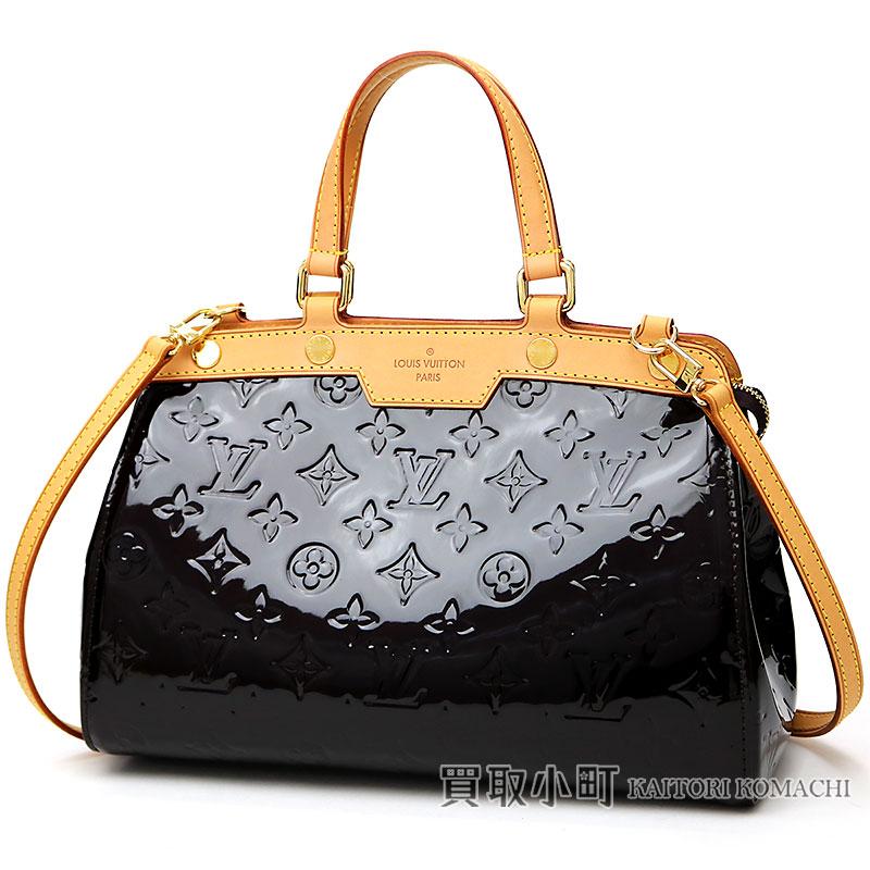 80a9a86463b Louis Vuitton M91622 Blair PM モノグラムヴェルニアマラント 2WAY shoulder bag tote bag  handbag doctors bag LV Brea PM Monogram Vernis