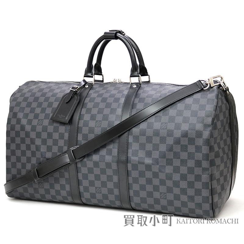 ec6d00a05c50 Boston bag trip bag travel bag key Poll 55 LV KEEPALL BANDOULIERE 55 DAMIER  GRAPHITE belonging to Louis Vuitton N41413 key Poll band re-yell 55 ダミエグラ  ...