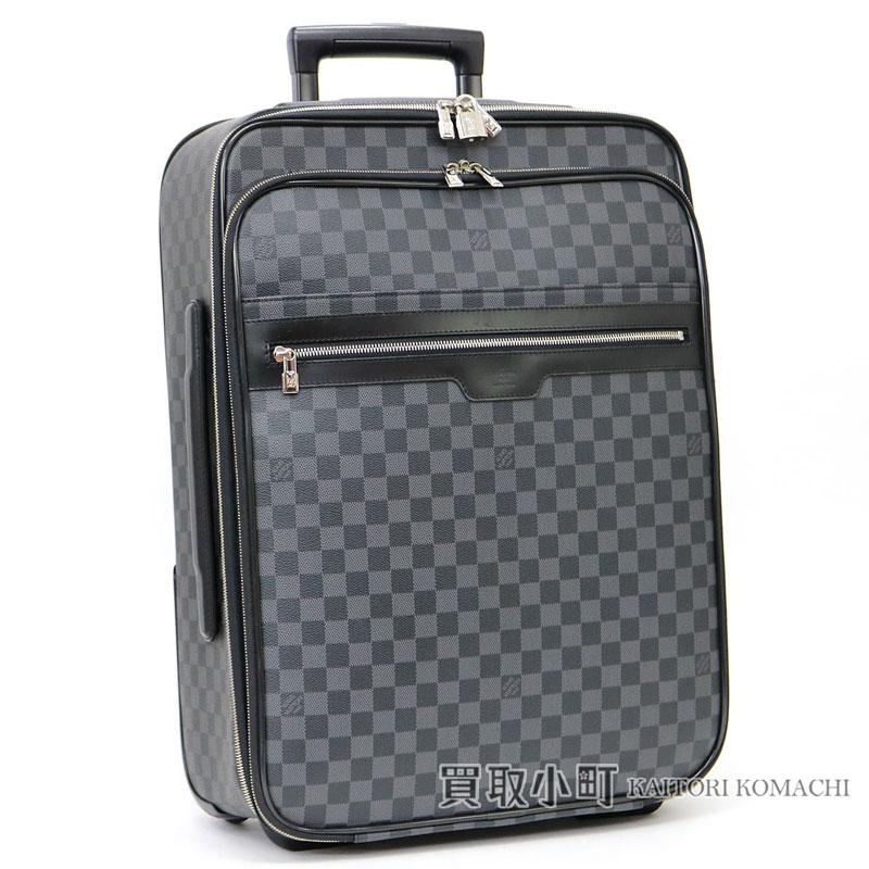ルイヴィトン【LOUIS VUITTON】 N41186 ペガス ビジネス 55 ダミエ グラフィット キャリーケース トローリー キャスター付き旅行バッグ スーツケース トラベル コロコロカート LV Pegase 55 Business Damier Graphite Travel Rolling Luggage【ABランク】【中古】