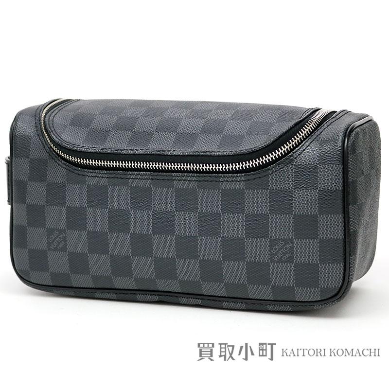 ac4994db67e0 Louis Vuitton N47625 トワレポーチダミエグラフィットメンズセカンドバッグトラベルポーチクラッチバッグ LV TOILETRY  POUCH DAMIER GRAPHITE