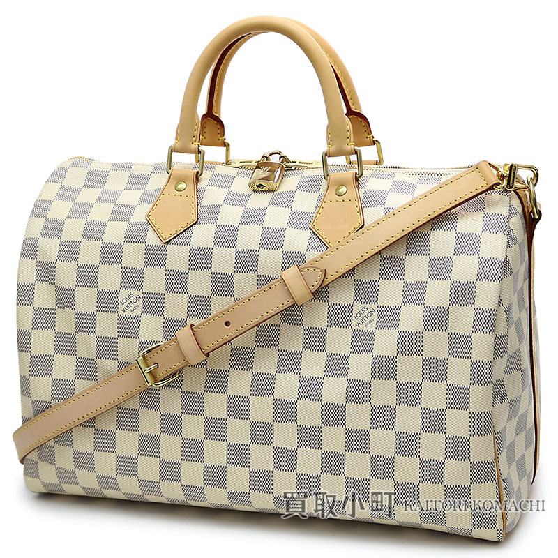 3f221130108a KAITORIKOMACHI: Speedy 35 LV SPEEDY BANDOULIERE 35 DAMIER AZUR with Louis  Vuitton N41002 speedy band re-yell 35 ダミエアズールアイコンボストンバッグ 2WAY ...
