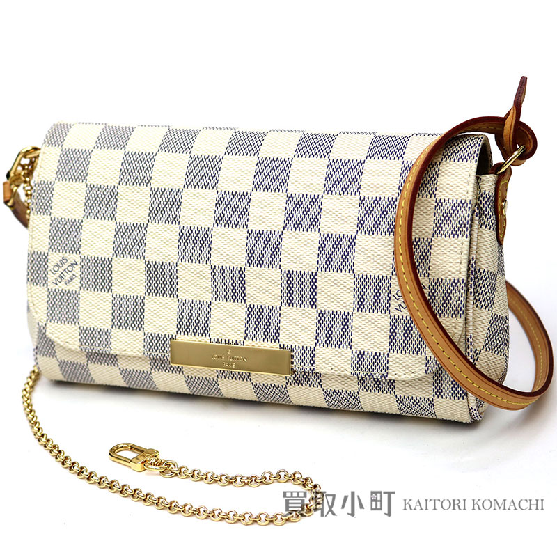 b2be459281ac Take Louis Vuitton N41277 feh wart Ritt PM ダミエアズール 2WAY shoulder bag  crossbody bag pochette slant  LV Favorite PM Damier Azur Shoulder Bag