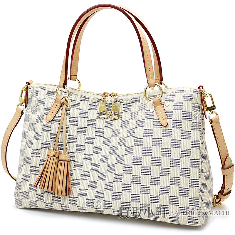 7d8cfaa348d Louis Vuitton N40022 リミントンダミエアズールレザータッセルチャームトートバッグ 2WAY shoulder bag LV  LYMINGTON DAMIER AZUR TOTE
