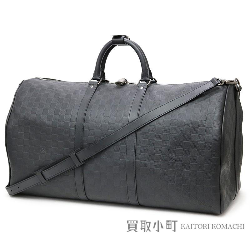 8ae837680f73 Boston bag trip bag travel bag key Poll 55 LV KEEPALL BANDOULIERE 55 DAMIER  INFINI ONIX belonging to Louis Vuitton N41144 key Poll band re-yell 55 ダミエ  ...