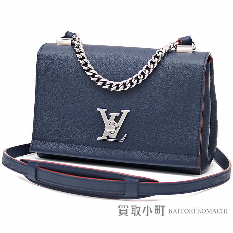 c5e2223cac77 Take Louis Vuitton M43391 lock me II BB マリーヌルージュソフトカーフパルナセア LV logo twist  lock 2WAY shoulder bag slant  leather collection lock me 2 LV ...