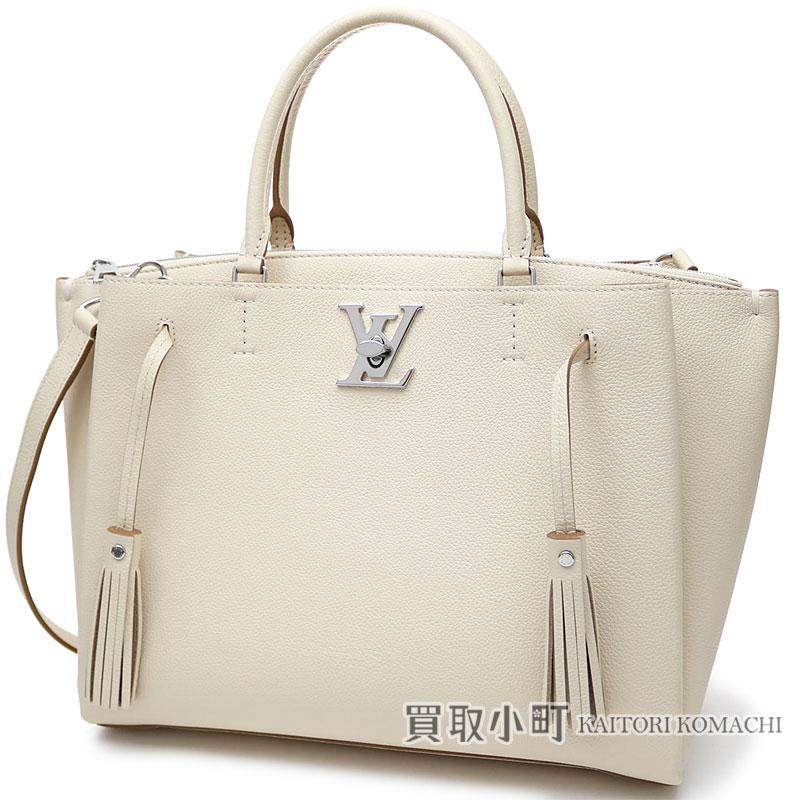 fdd58e81208 KAITORIKOMACHI: Louis Vuitton M54265 ロックミートクレームソフトカーフパルナセア LV logo twist  lock 2WAY shoulder bag tassel leather collection beige leather ...
