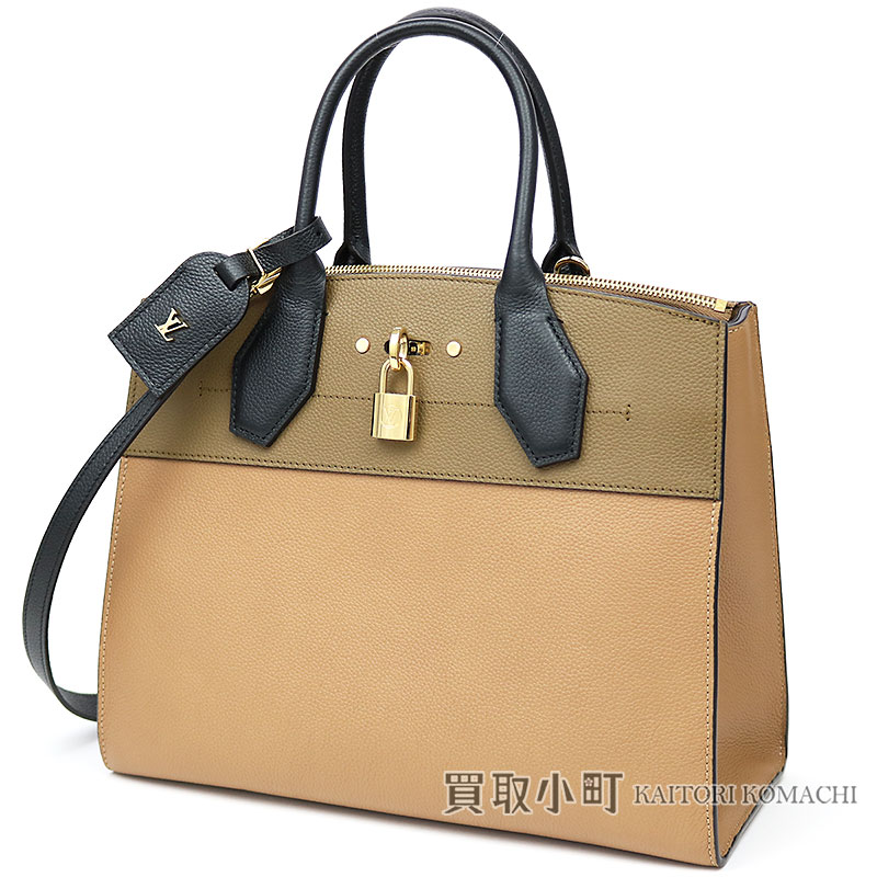 0f83aca8f159 Louis Vuitton M53320 city steamer MM トリヨンレザーセサミコンブノワール 2WAY shoulder bag  handbag tote bag LV CITY STEAMER MM SESAME KOMBU NOIR