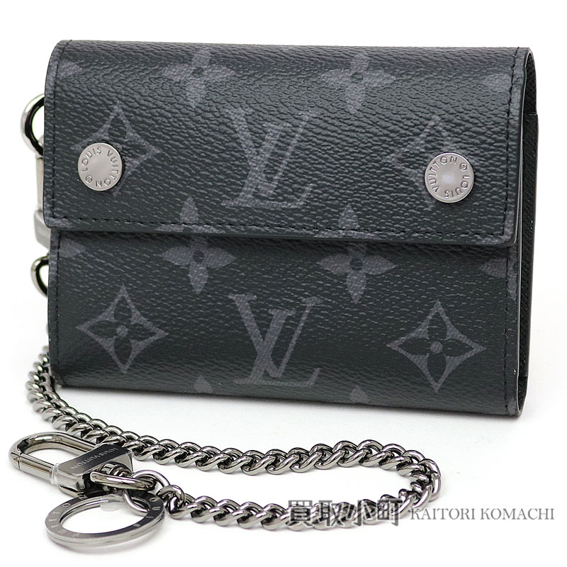 e029094efbbd Kaitorikohi Men S Wallet Black Lv Rivets Chain. View 1 Monogram Small  Leather Goods Flore Chain Wallet Louis Vuitton
