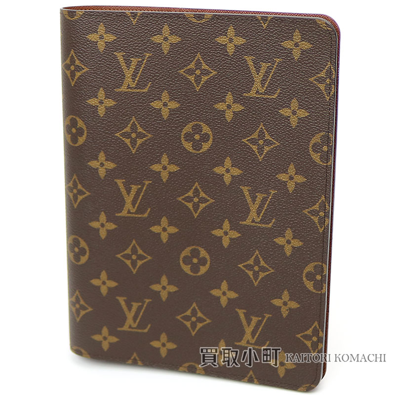 Louis Vuitton Made In France >> KAITORIKOMACHI: Louis Vuitton R20100 agenda bureau monogram A5 size diary notebook cover LV DESK ...