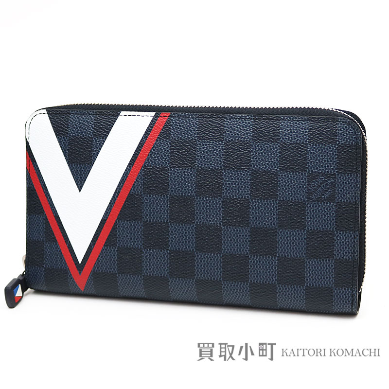 8e71babaed1 Louis Vuitton N64013 2017 America's Cup-limited ジッピーオーガナイザー V motif round  fastener long wallet wallet travel case clutch LV ...