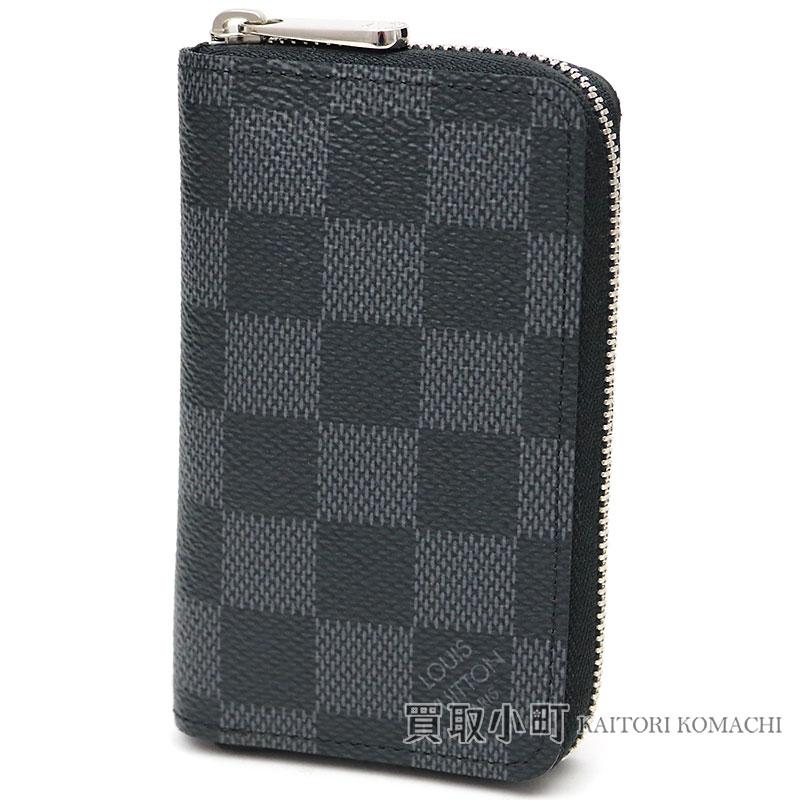 78be4815516 Louis Vuitton N63076 ジッピーコインパースダミエグラフィットラウンドファスナーコインケースカードケース coin ...