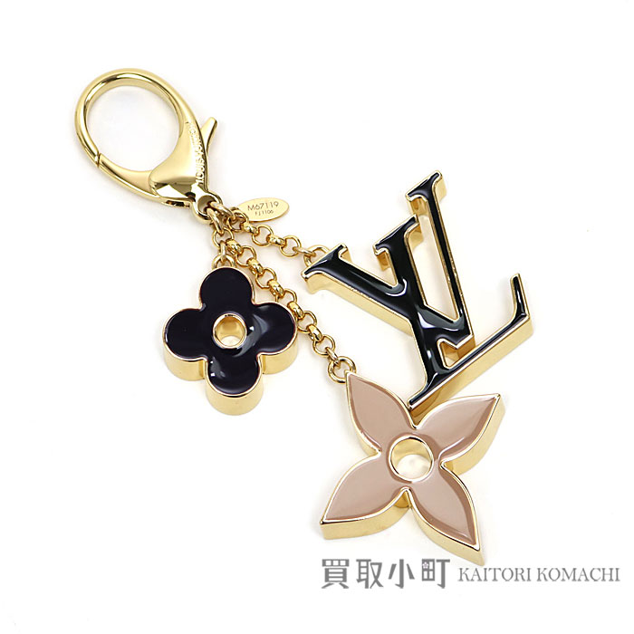 3ca68522b69b Louis Vuitton M67119 バッグチャームフルールドゥモノグラム LV logo monogram flower bag charm key  ring key ring LV FLEUR DE MONOGRAM BAG CHARM KEY HOLDER