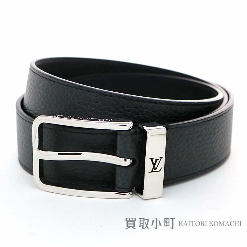 a64869859f24 Louis Vuitton M6065T サンチュールポンヌフ 35MM ノワールトリヨンレザー LV logo loop men belt band  black 95cm Saint-Cheol Pont Neuf 35mm Noir Taurillon Belt