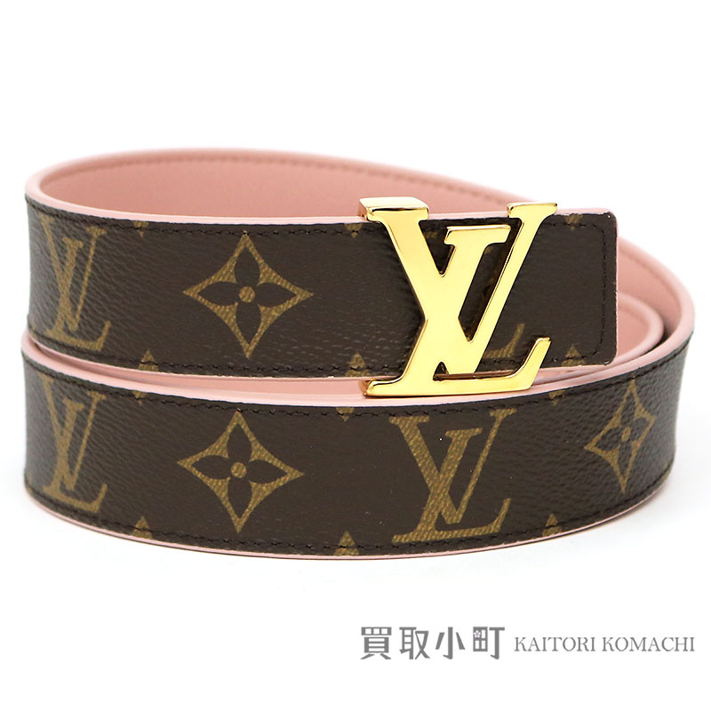 bc7eecbe1 KAITORIKOMACHI: Louis Vuitton M9052U sun Tulle initial monogram reversible  30MM nude Lady's belt pink leather 90cm Saint-Cheol LV Initiales Belt |  Rakuten ...