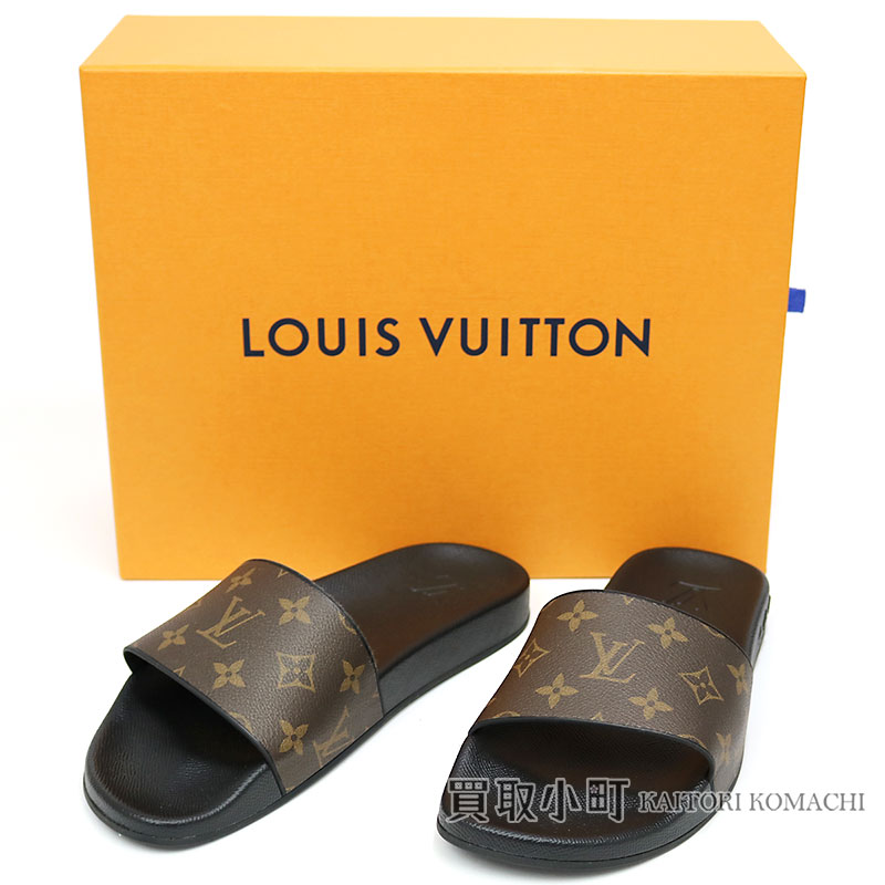 4a6485a23ed0 Louis Vuitton 1A3PS waterfront line mule monogram rubber sandals black LV  WATERFRONT MULE MONOGRAM