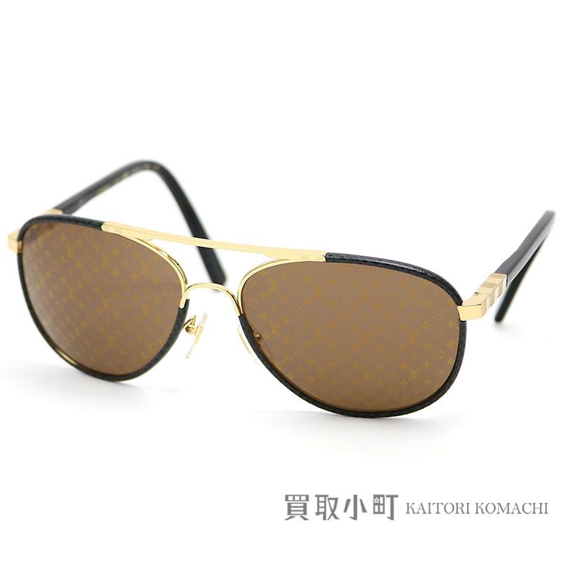 dff0b2aa9036 KAITORIKOMACHI: Louis Vuitton Z0948U  アトラクションパイロットサングラスモノグラムパターンタイガレザーダミエキューブアイウエア glasses glasses glasses ...