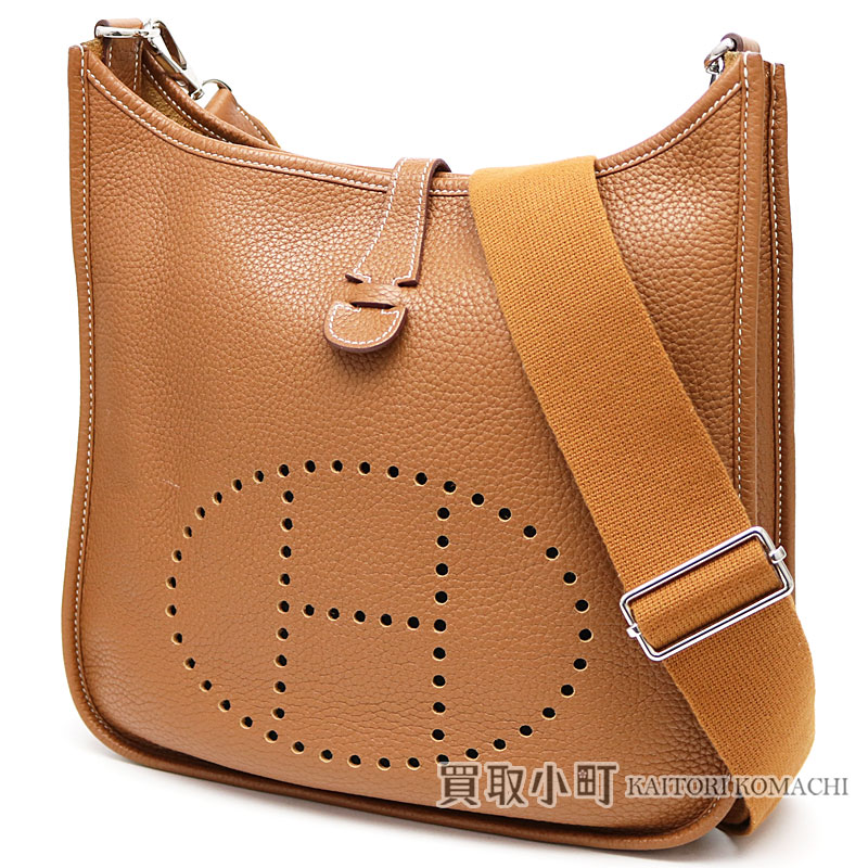 1b73a604a060 ... italy take hermes evelyn 3pm gold avian yong clements silver metal  fittings shoulder bag ebb phosphorus
