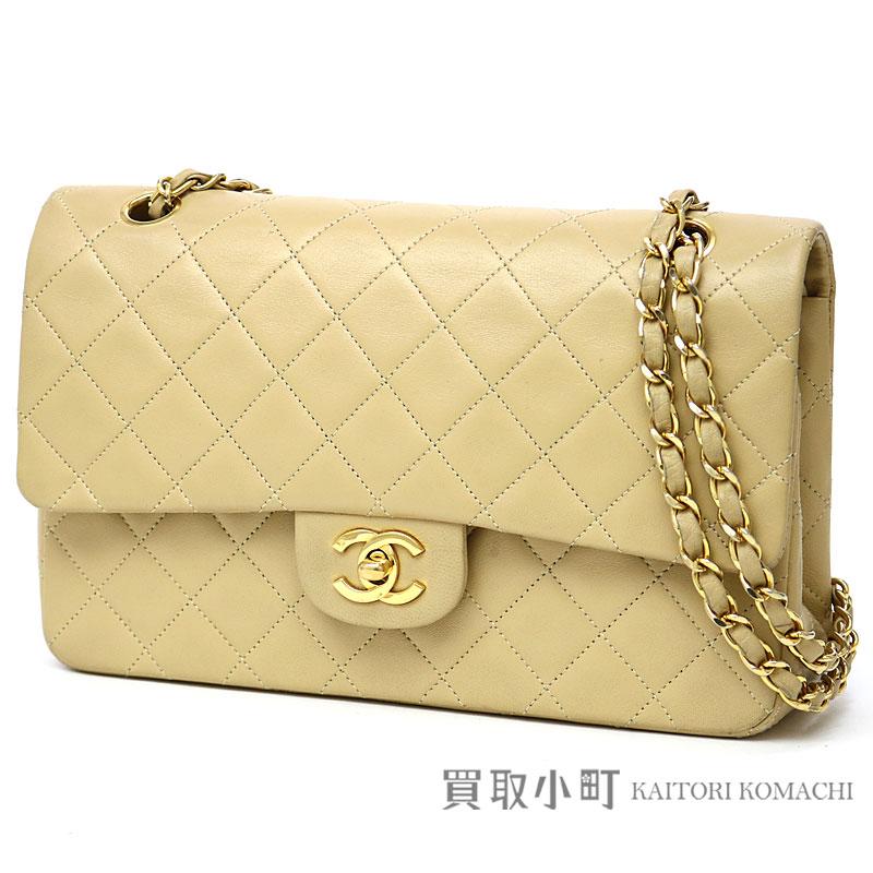 KAITORIKOMACHI  Chanel matelasse 25 classic flap bag beige lambskin ... 9a996a5238e97