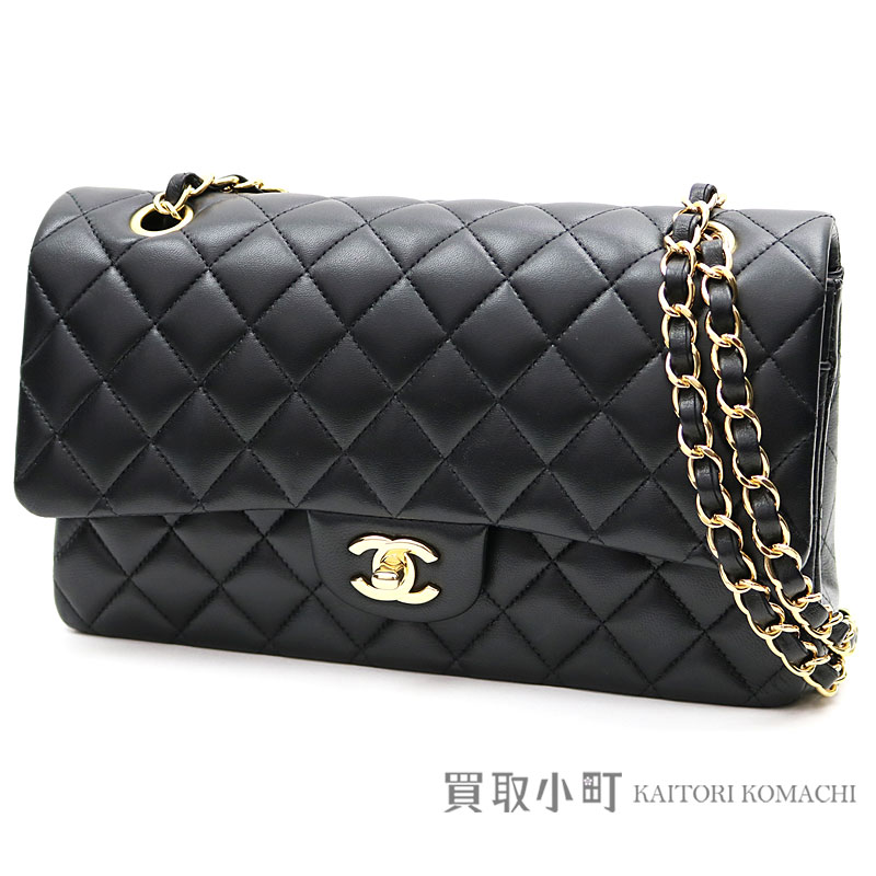 58f5250cfeb5 KAITORIKOMACHI: Chanel matelasse 25 classic flap bag black lambskin medium  W chain shoulder bag constant seller chain bag here mark twist lock double  flap ...