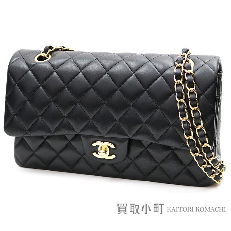 c9fbb57ef40669 KAITORIKOMACHI: Chanel matelasse 25 classic flap bag black lambskin medium  W chain shoulder bag constant seller chain bag here mark twist lock double  flap ...
