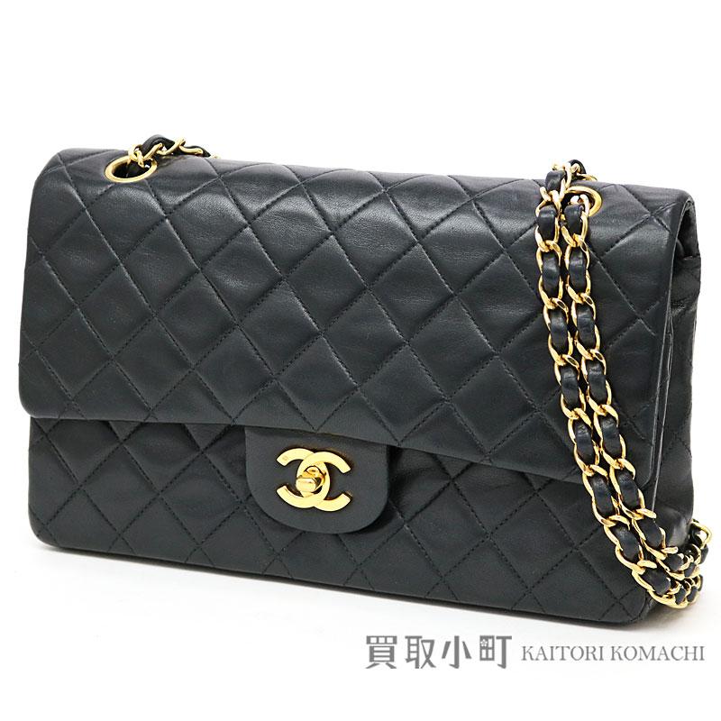 KAITORIKOMACHI  Chanel matelasse 25 classic flap bag black lambskin ... aaac335fc55a7