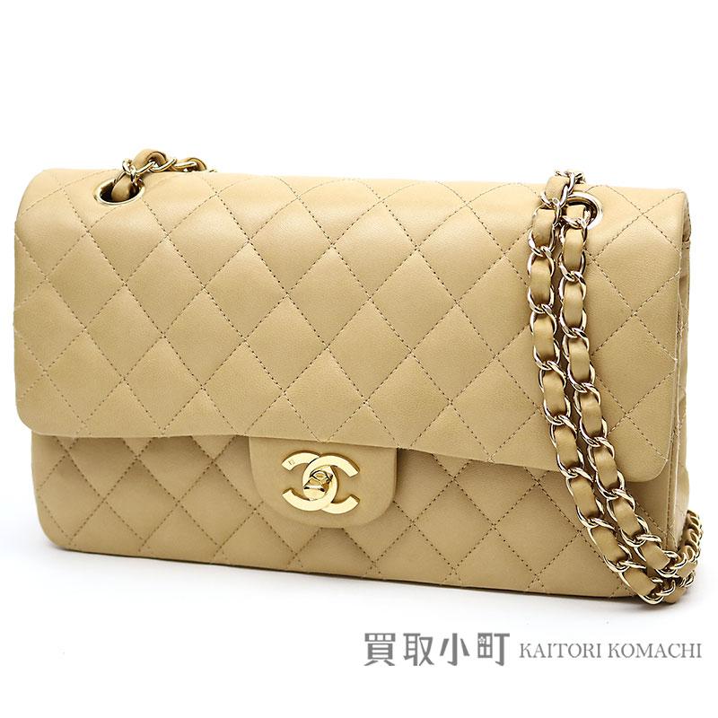 b7857cdf5984 Chanel matelasse 25 classic flap bag beige lambskin medium W chain shoulder  bag constant seller chain bag matelasse double flap double-cover latter  term ...