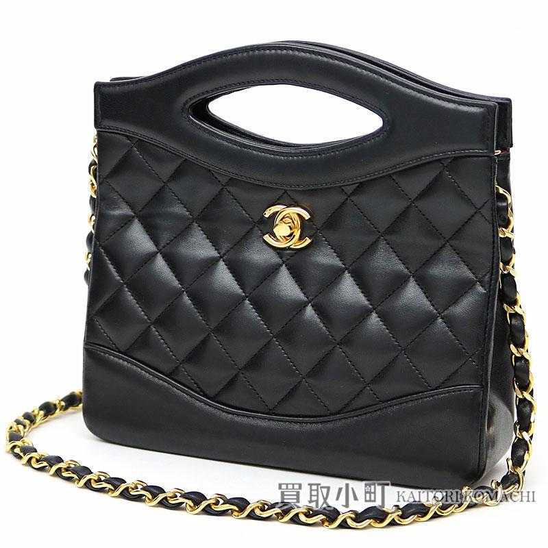 Take Chanel classical music chain shoulder bag black lambskin matelasse  quilting here mark twist lock mini-chain bag slant  vintage  01 CLASSIC  CHAIN BAG 5a1776d6a6a74