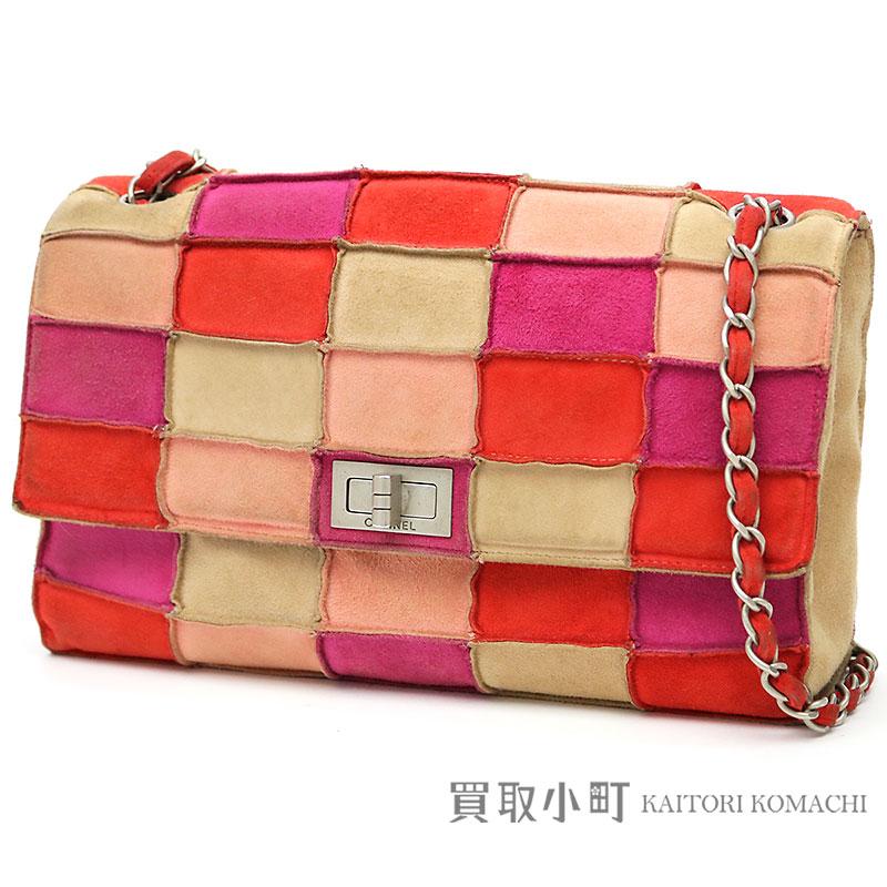 87e146b5802c KAITORIKOMACHI: Chanel 2.55 chains shoulder bag patchwork suede flap bag  chain bag #05 2.55 Flap Bag | Rakuten Global Market