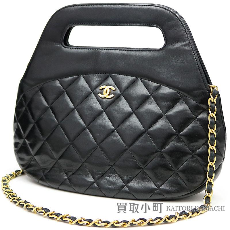 KAITORIKOMACHI  Chanel classical music chain shoulder bag black ... e40d32f8bb785