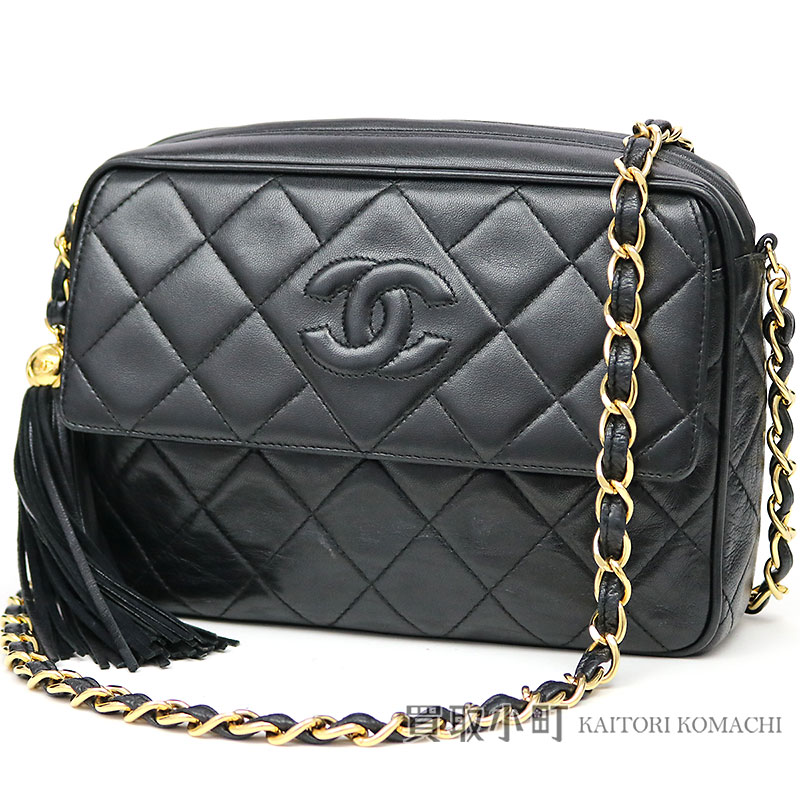Chanel matelasse tassel charm chain shoulder bag black lambskin here mark  stitch chain bag fringe black flap classical music vintage  03 Classic  Chain ... 2e835674a59ef