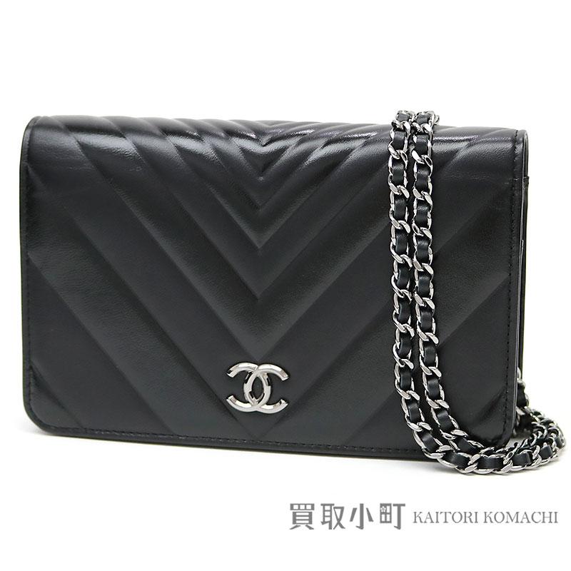c8575b4e7c1 Take Chanel Chevron emboss chain wallet here mark calfskin chain shoulder  bag pochette clutch wallet wallet ...