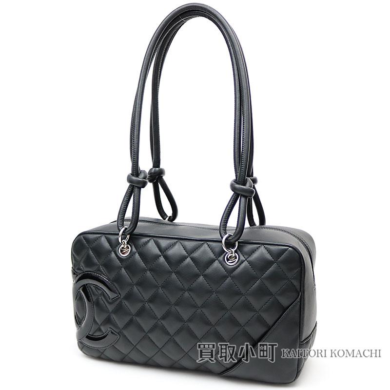 ae941689b8613f KAITORIKOMACHI: Chanel Cambon line bowling bag signature black enamel here  mark A25171 #14 CAMBON BOWLING BAG CC LOGO   Rakuten Global Market