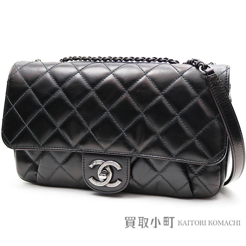 2d2f4e0c427c Take Chanel easy flap bag antique black calfskin classical music W chain  shoulder bag chain bag matelasse quilting slant  A93144 Y60317 94305  21 FLAP  BAG ...
