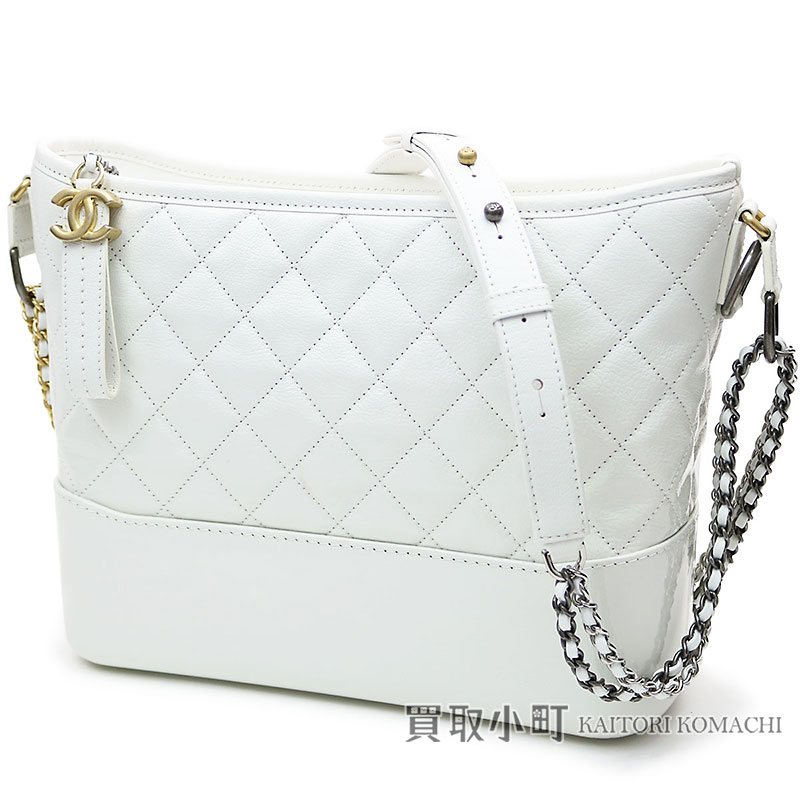 5d52b51270c9 KAITORIKOMACHI  Chanel Gabriel do Chanel Ho baud bag white patent ...