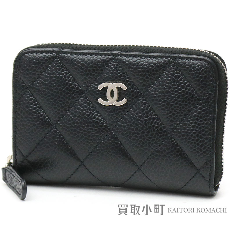 0b2c95ff795bca Kaitorikohi Chanel Quilting Round Zip Coin Perth Black Caviar. Boy Chanel  Zipped Coin Purse ...