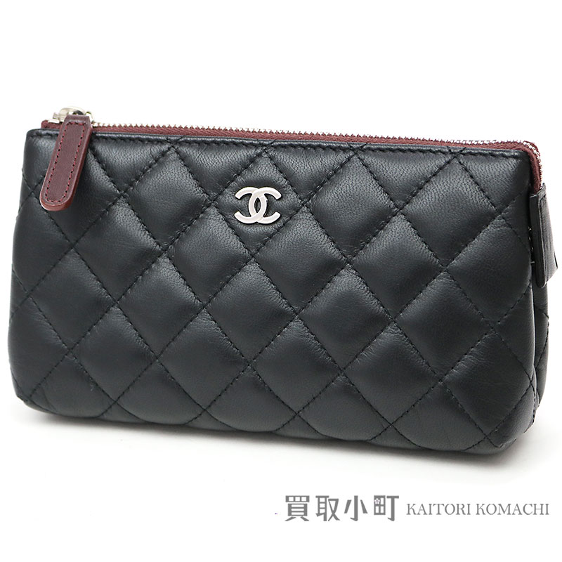 6001b2ada291 KAITORIKOMACHI: Chanel matelasse cosmetics porch black lambskin cosmetics  porch makeup porch here mark classical music quilting A69259 #21 COSMETIC  POUCH [A ...