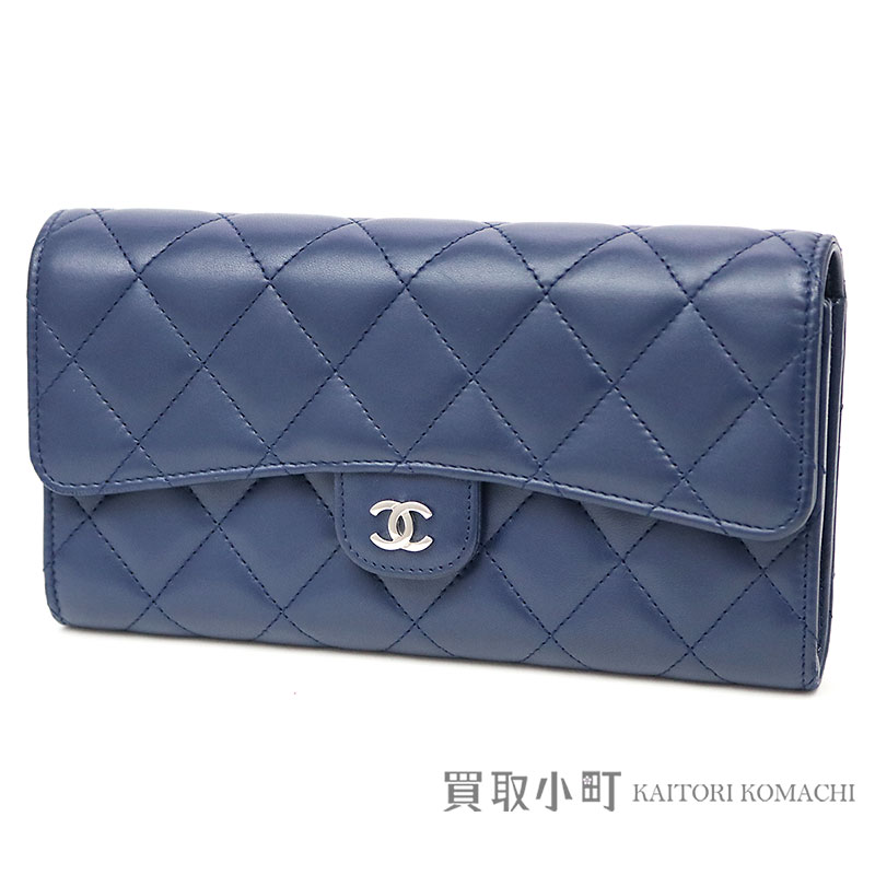5cf73a3edb69 KAITORIKOMACHI: Chanel thymeless classic quilting flap wallet blue lambskin  silver metal fittings folio long wallet matelasse wallet A80758 #22 Classic  CC ...