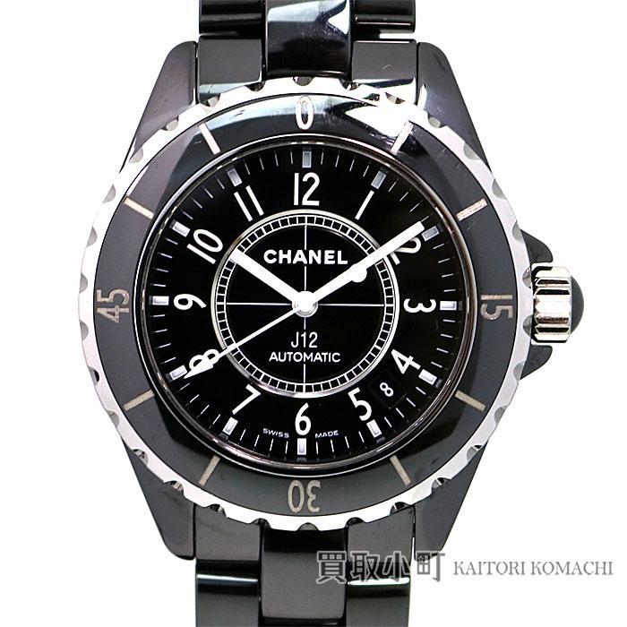 シャネル 【CHANEL】 J12 38MM ブラックセラミック オートマティック メンズウォッチ ブレス 男性用腕時計 自動巻き 黒 38ミリ Ref.H0685 AUTOMATIC BLACK CERAMIC【ABランク】【中古】