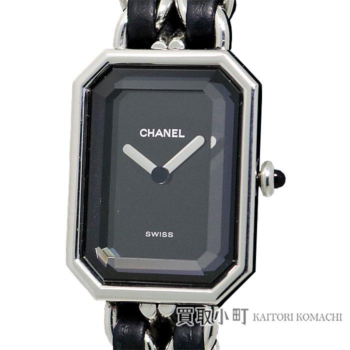 シャネル 【CHANEL】 プルミエール SS Lサイズ ブラック レディースウォッチ 女性用腕時計 H0451- L Premiere Watch【ABランク】【中古】