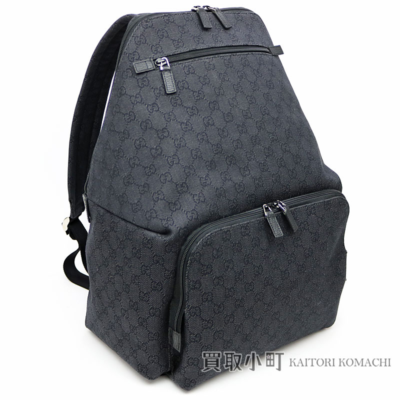 f44a316d943 for whole family 0b222 73c5c 354667 Gucci GG denim backpack black rucksack  day pack men F5DIN ...