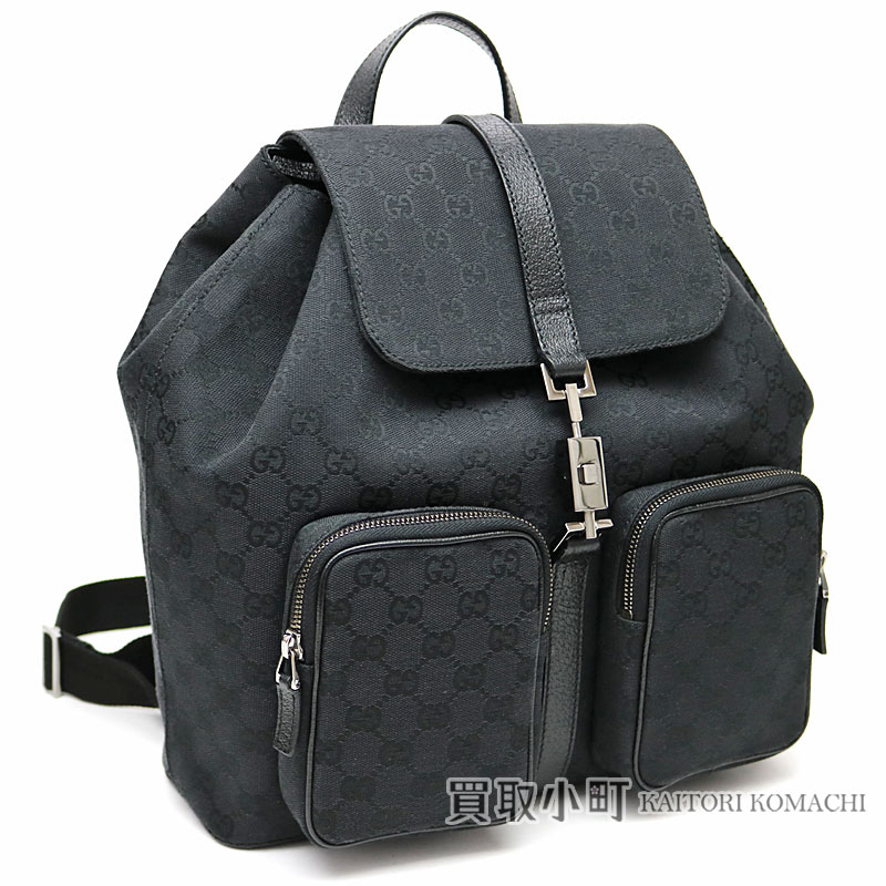 8b236cb0ee93 KAITORIKOMACHI  Gucci Jackie GG canvas backpack black rucksack day ...
