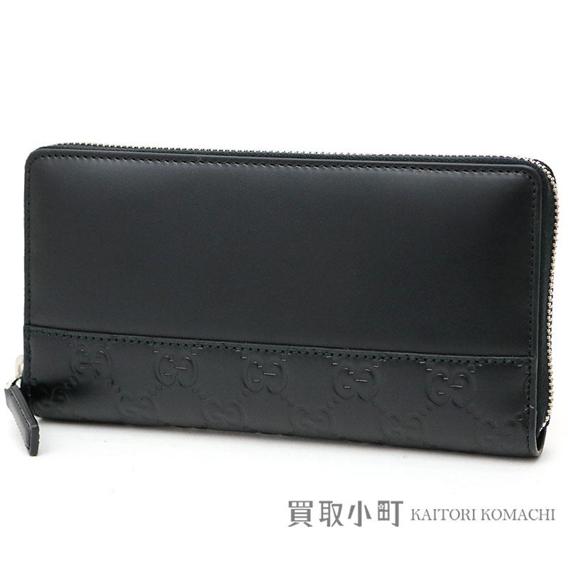 dea8c038bb9c03 Gucci Gucci signature leather zip around wallet black calfskin round  fastener long wallet wallet mistral Gucci sima 408839 CWD2N 1000 GUCCI  SIGNATURE ...
