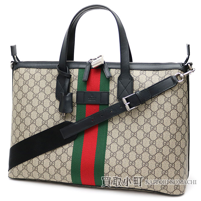 4d73b0142a KAITORIKOMACHI: Gucci Gucci band Web GG スプリームダッフルバッグベージュ X dark brown  leather green X red 2WAY shoulder bag tote bag 359261 KHNGN 9692 MENS ...