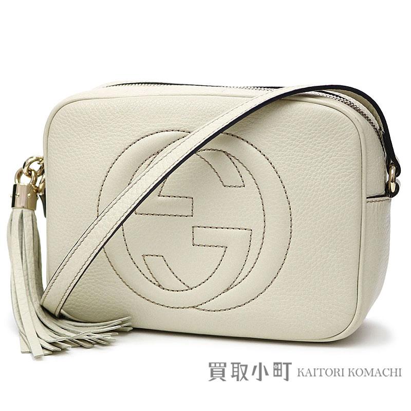 e54edcc11f09 Gucci Soho leather Small disco bag white leather tassel charm interlocking  grip G crossbody shoulder bag fringe 308364 A7M0G 9022 SOHO LEATHER