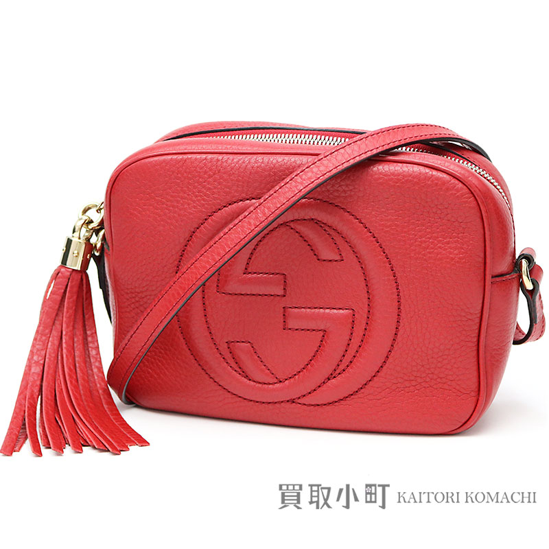 5f031dc330c KAITORIKOMACHI  Gucci Soho leather Small disco bag red tassel charm ...