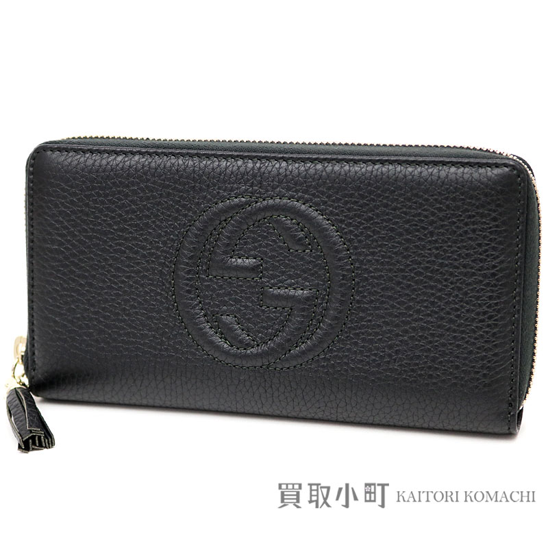 1c00579d49f KAITORIKOMACHI  Gucci Soho leather zip around wallet black ...