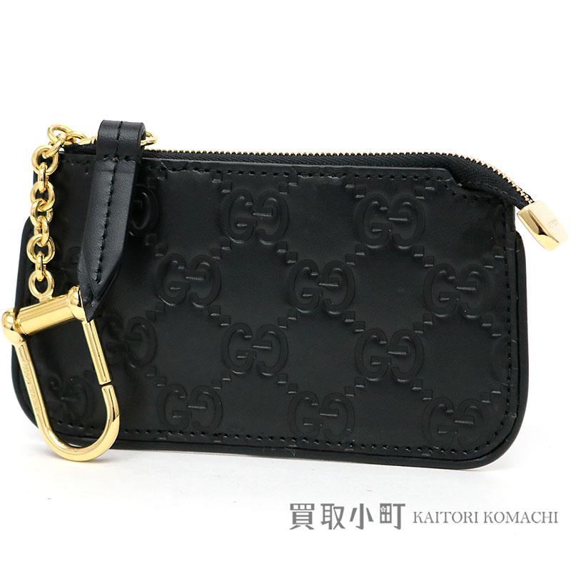 58e52fff4f13b5 KAITORIKOMACHI: Coin case coin purse wallet wallet Gucci sima 447964 CWC1G  1000 SIGNATURE LEATHER KEY CASE with the Gucci Gucci signature leather key  case ...