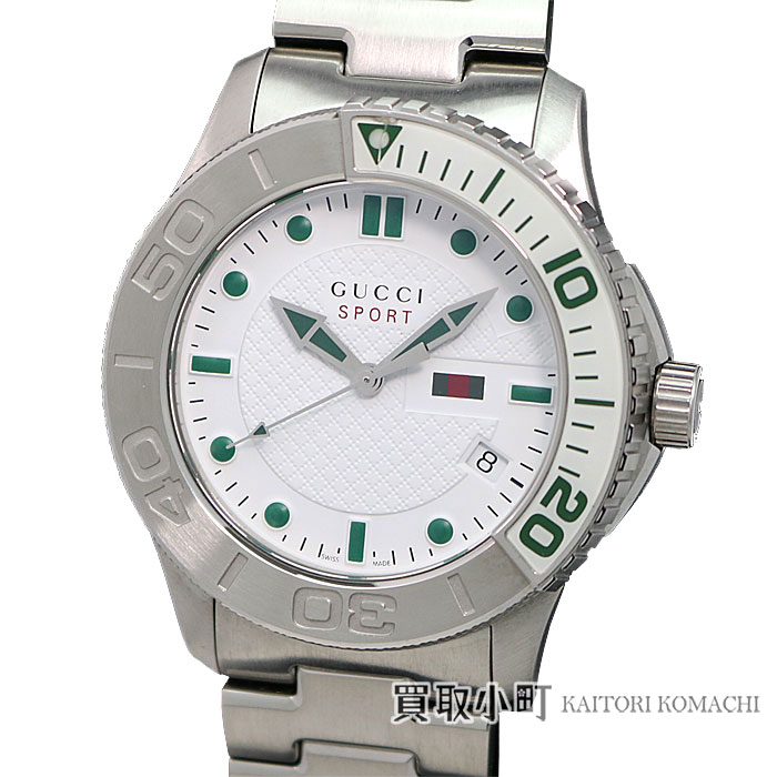 b1e7c8eb964 Watch 126.2 YA126232 G-TIMELESS EXTRA LARGE SPORT MEN S WATCH for the Gucci  G- thymeless extra large sports watch 44MM white stainless steel SS breath  ...